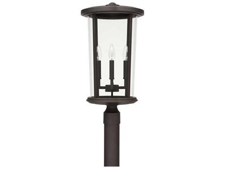 Capital Lighting Howell Oiled Bronze Four-Lights 12'' Wide Outdoor Post Lantern