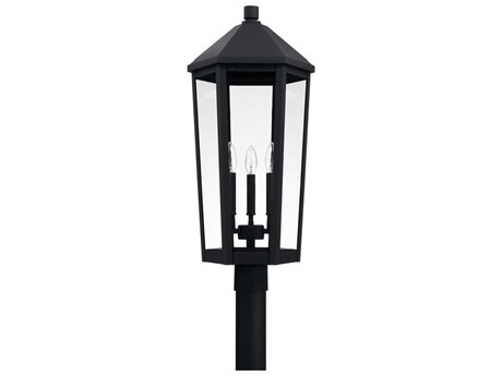 Capital Lighting Ellsworth Black Three-Lights 13'' Wide Outdoor Post Lantern