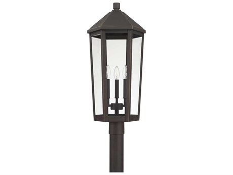 Capital Lighting Ellsworth Oiled Bronze Three-Lights 13'' Wide Outdoor Post Lantern
