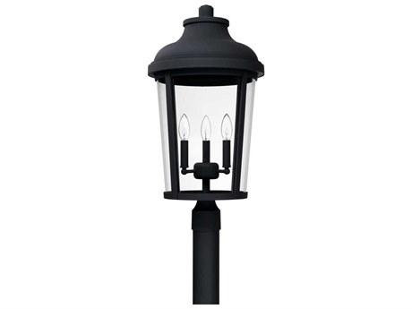 Capital Lighting Dunbar Black Three-Lights 13'' Wide Outdoor Post Lantern