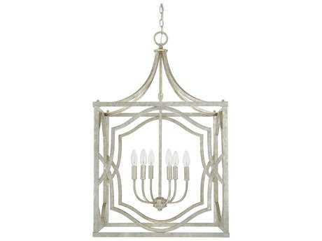 Capital Lighting Blakely Antique Silver Six-Light 23'' Wide Chandelier