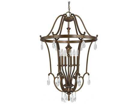 Capital Lighting Claybourne Suede with Glass Diffuser Six-Light 25'' Wide Pendant Light