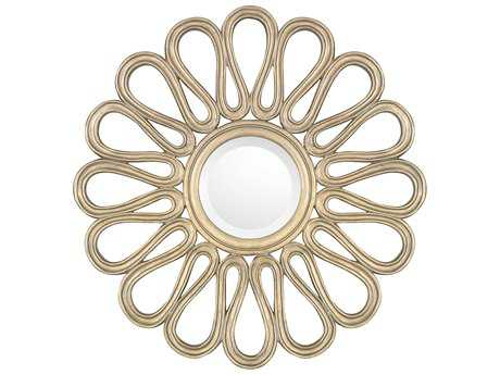 Capital Lighting Brushed Gold 29'' Wide Round Wall Mirror