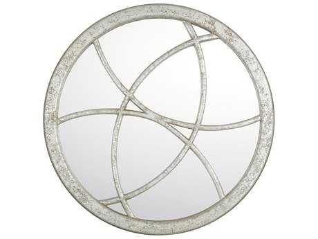 Capital Lighting Silver Quartz 36'' Wide Round Wall Mirror