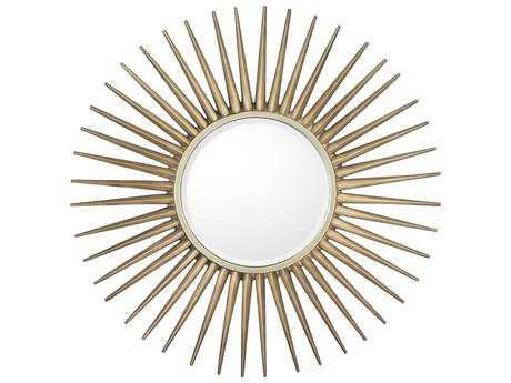 Capital Lighting Brushed Silver 34'' Wide Round Wall Mirror