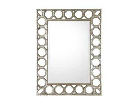 Capital Lighting 37 x 49 Rectangular Silver & Gold Undertones Wall Mirror