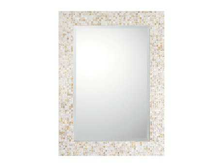 Capital Lighting 32 x 44 Rectangular Beveled Mother of Pearl Wall Mirror