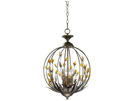 Cyan Design Autumn Dusk & Amber Four-Light 16'' Wide Chandelier
