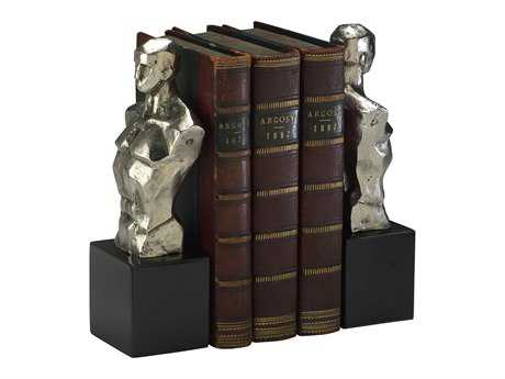 Cyan Design Hercules Chrome & Black Granite Book End