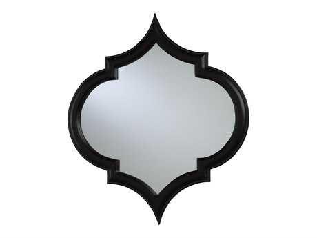 Cyan Design Large Corinth 23 x 26 Black Wall Mirror