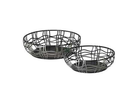 Cyan Design Silver & Bronze Suzanne Set of 2 Baskets