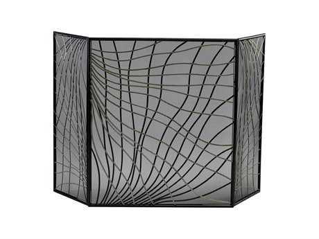 Cyan Design Silver & Black Fireplace Screen
