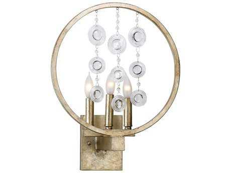 Cyan Design Emilia Silver Leaf Three-Light Wall Sconce