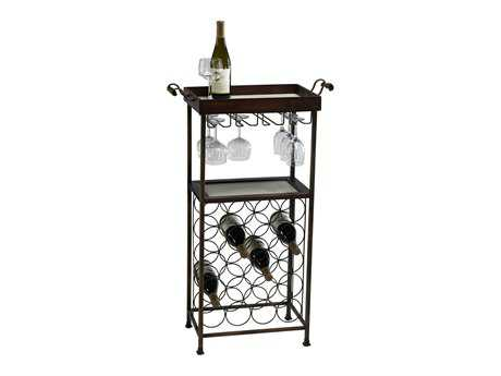 Cyan Design Mahogany & Copper New York Wine Rack