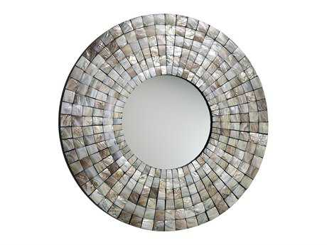 Cyan Design Mosaic 36 x 36 Capiz Shell Wall Mirror