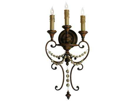 Cyan Design Meriel Antiqued Sienna Three-Light Wall Sconce
