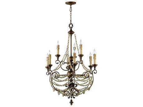 Cyan Design Meriel Antiqued Sienna Nine-Light 31'' Wide Chandelier