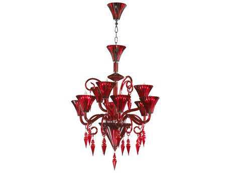 Cyan Design Andretti Red Nine-Light 28'' Wide Chandelier