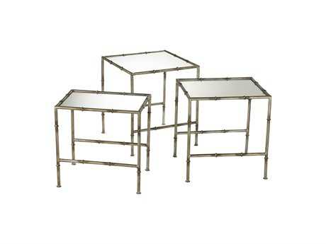 Cyan Design 17.75 Square Bamboo Nesting Table