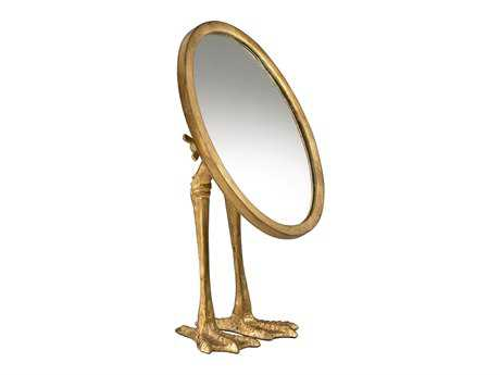 Cyan Design 7 x 13 Gold Dresser Duck Leg Mirror