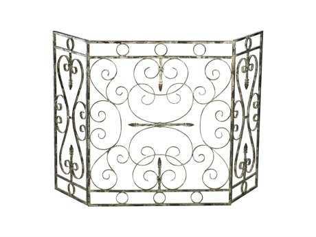 Cyan Design Crawford Distressed Antique White Fireplace Screen