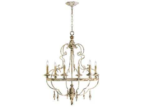 Cyan Design Davinci Persian White Six-Light 25'' Wide Chandelier