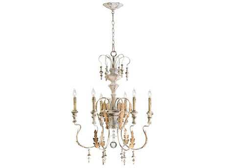 Cyan Design Motivo Persian White Six-Light 24'' Wide Chandelier