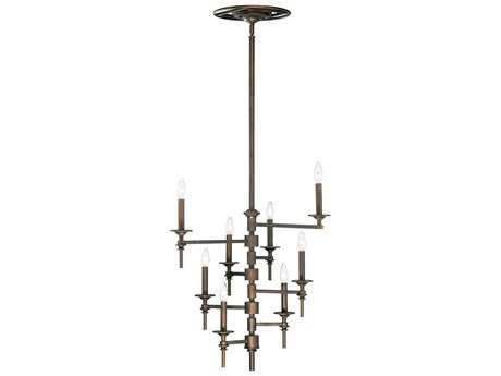 Cyan Design Omega Oiled Bronze Eight-Light 30'' Wide Chandelier