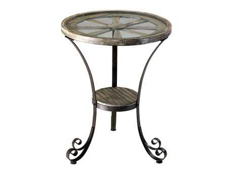Cyan Design Rustic 24 Round Carson Designer End Table