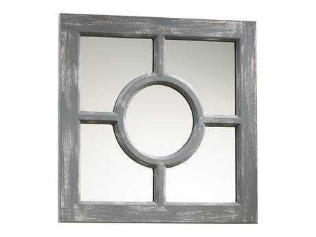 Cyan Design Ashford 17 x 17 Distressed Gray Wall Mirror