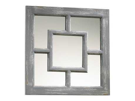 Cyan Design Ashbury 17 x 17 Distressed Gray Wall Mirror