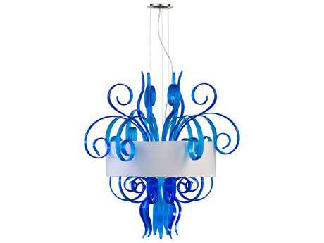 Cyan Design Jellyfish Blue Eight-Light Pendant