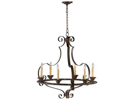 Cyan Design Kensington Gilded Bronze Six-Light 27'' Wide Chandelier