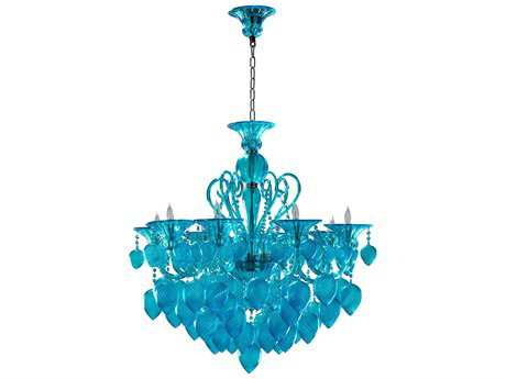 Cyan Design Bella Vetro Aqua Eight-Light 34'' Wide Chandelier