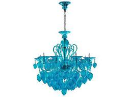 Bella Vetro Aqua Eight-Light 34'' Wide Chandelier