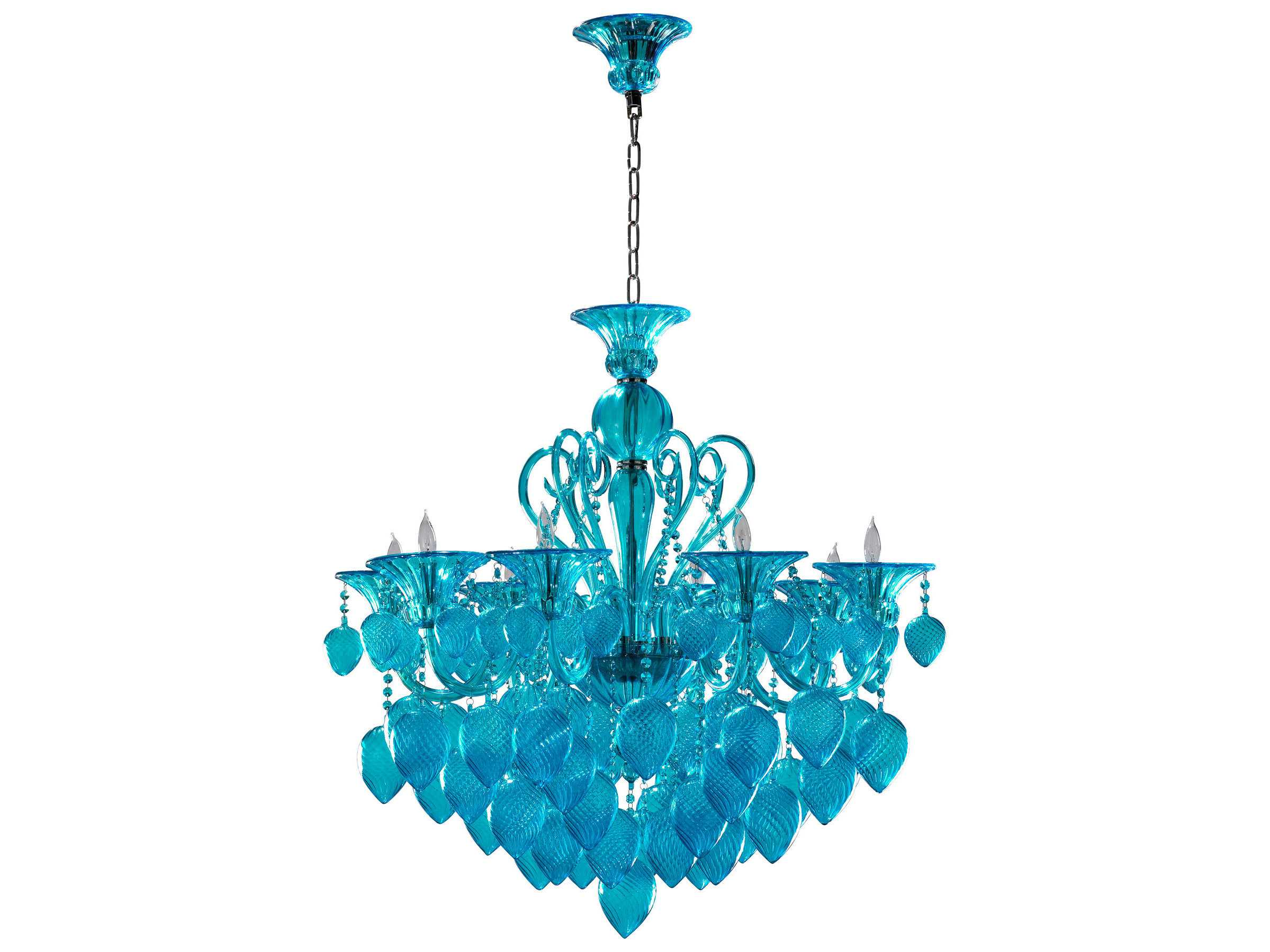 Aqua Glass Chandelier