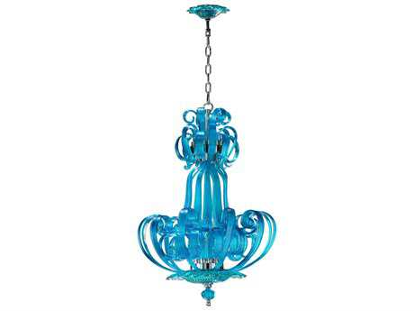Cyan Design Aqua Florence Four-Light 22'' Wide Chandelier