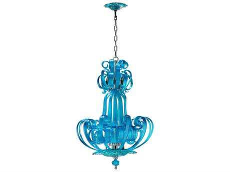 Cyan Design Aqua Florence Four-Light 22'' Wide Mini Chandelier