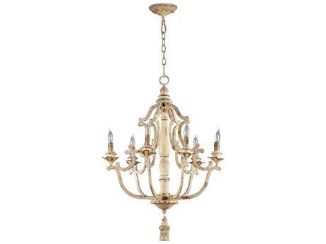 Cyan Design Maison Persian White Six-Light 24'' Wide Chandelier