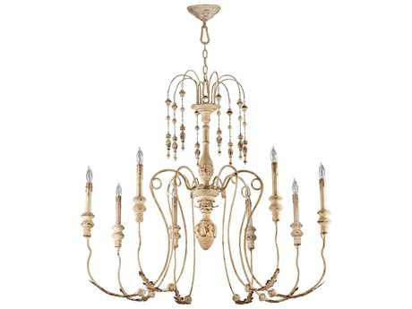 Cyan Design Maison Persian White Eight-Light 41'' Wide Chandelier