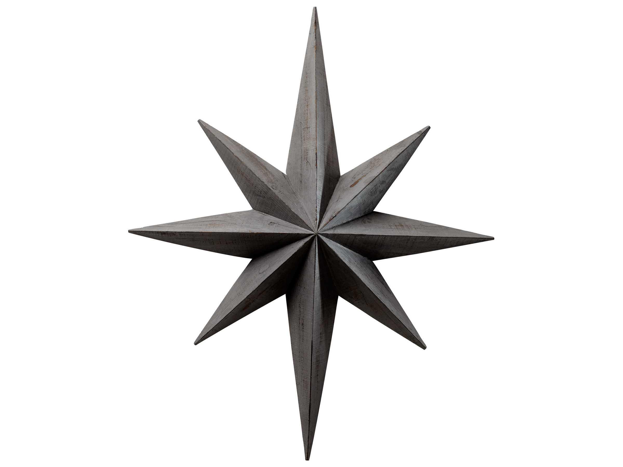 Grey Star Wall Decor : Cyan design distressed gray star wall decoration c