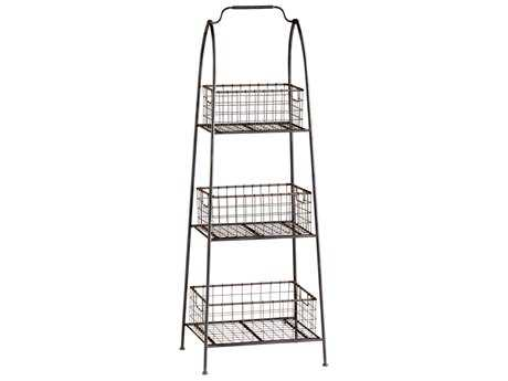 Cyan Design Essex Raw Steel Etagere Stand Rack