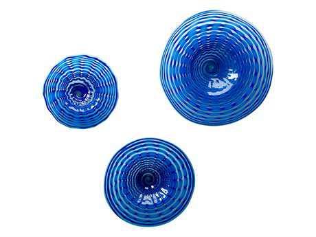 Cyan Design Aurora Blue Decorative Plate