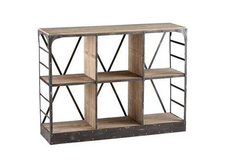 Cyan Design Newberg Raw Iron & Natural Wood Storage Console