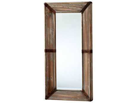 Cyan Design Williams 20 x 39 Raw Iron & Natural Wood Wall Mirror