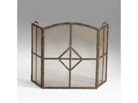 Cyan Design Lincoln Raw Steel Fireplace Screen