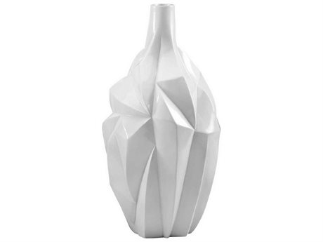 Cyan Design Glacier 16'' High Gloss White Glaze Vase