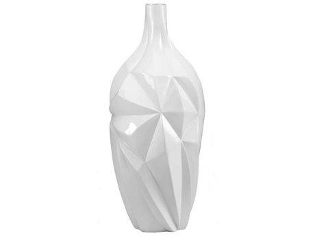 Cyan Design Glacier 21'' High Gloss White Glaze Vase