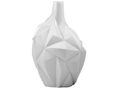 Cyan Design Glacier 13'' High Gloss White Glaze Vase