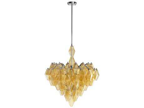 Cyan Design Boho Amber Six-Light 27'' Wide Chandelier